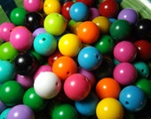 Wholesale Chunky Beads 20mm -20 ct- Bubblegum Beads - Acrylic gumball beads mixed colors for chunky necklace wholesale beads