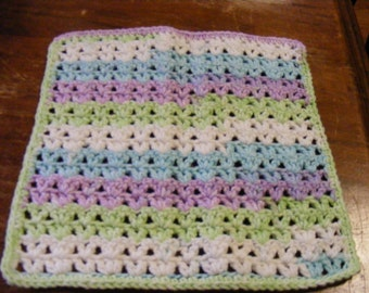 Crocheted Dish Cloth or Wash Cloth.