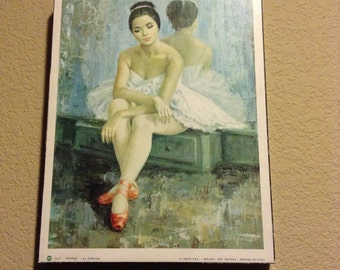 """Vintage Pifarre' - """"La Ballerina"""" wall decor Printed in Italy"""