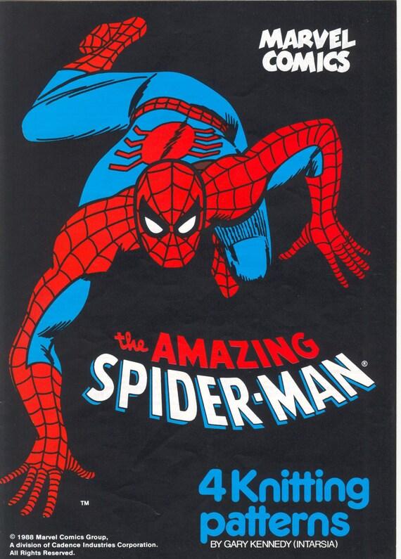Spiderman Intarsia Knitting Pattern