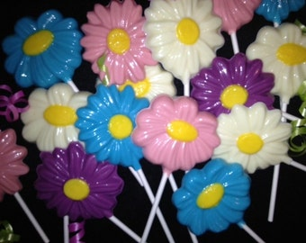 Chocolate Flower Lollipops - 1 dozen