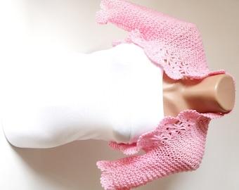 Bridal Shrugs, Knit Candy Pink Wedding, Boleros