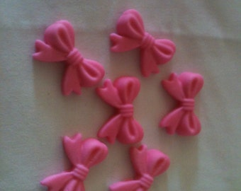 Edible Fondant Cupcake or Cake Topper - Bows