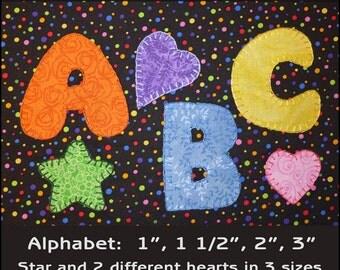 Applique Template, Chunky Alphabet Applique Templates - Alphabet Applique Pattern - Letters Template - PDF Pattern, DIY