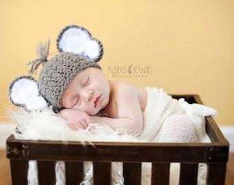 Newborn Baby Elephant Hat Crochet Photo Prop