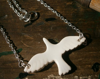Ceramic Dove necklace