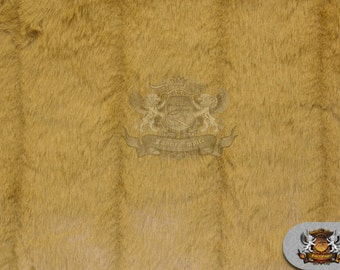 Mink Faux Fur Camel Fabric Sold by the yard