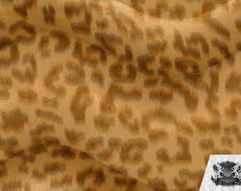Leopard Light Brown Velboa Animal Print Fabric Sold by the Yard