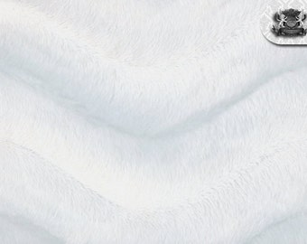 Wave White Velboa Fabric Sold by the Yard