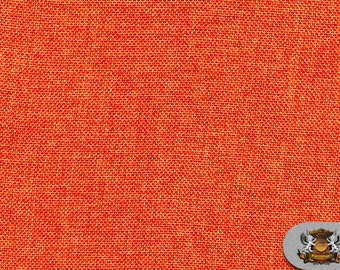 """Polyester Vintage Linen Look Dark Orange Fabric / 60"""" Wide / Sold by the yard"""