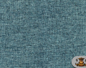 """Polyester Vintage Linen Look Seafoam Fabric / 60"""" Wide / Sold by the yard"""
