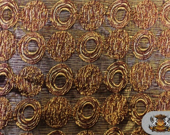 "Taffeta WEAVE MOON Beams Brown Copper Fabric / 120"" Wide / Sold by The Yard"