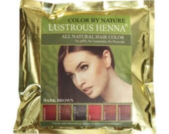 Lustrous Henna Dark Brown100% Natural Hair Color  100 Grams