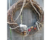Idaho Door Wreath - SKULL And SNAKE With Pearls - HomeIdaho