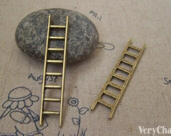 10 pcs of Antique Bronze Ladder Pendant Charms 10x51mm A5188