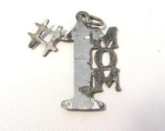 Vintage Sterling silver MoM pendant