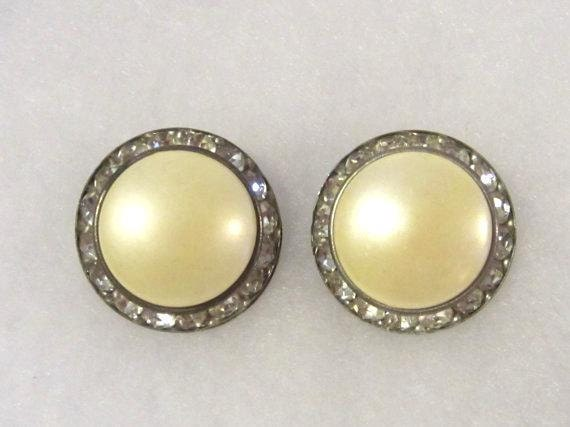 Antique Vintage Jewelry Signed Coro Clip On Earrings