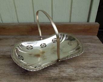 Silver basket vintage