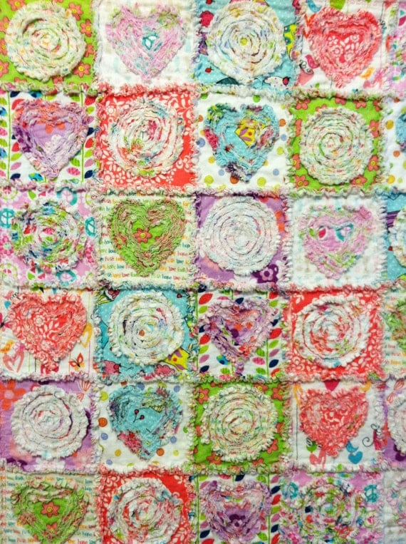 Baby Girl Rag Quilt Patterns Rag Quilt Pattern Tutorial ""