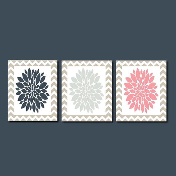 Modern flower floral burst navy silver crest by lovelyfacedesigns - Crest home design curtains ...