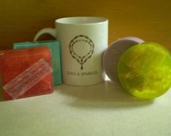 Natural Loofah Soap Bar 4oz each - Goat Milk or Glycerin - Essential Oil List