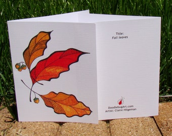 Leaf drawing: Fall Leaves