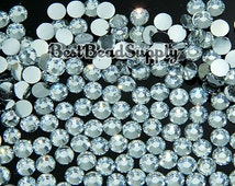 4MM SS16 1000 Pieces Crystal Clear Resin Flatback Rhinestones 14 Facet