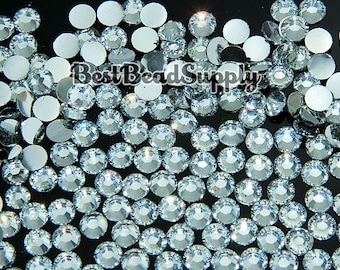 Wholesale 4MM SS16 10,000 Pcs Crystal Clear Resin Flatback Rhinestones 14 Facet