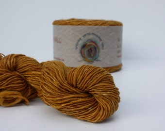 Spinning Yarns Weaving Tales - Tirchonaill 534 Golden Yellow 100% Merino for Knitting, Crochet, Warp & Weft