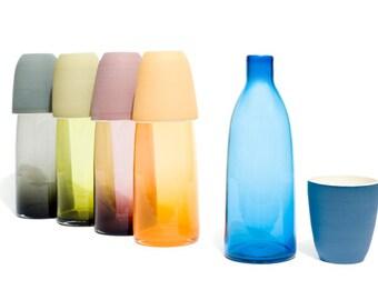 Blown glass water carafe set - Service à eau en verre soufflé