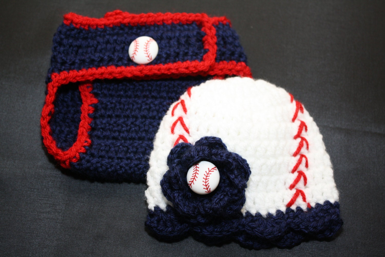 newborn s crochet baseball hat with matching by