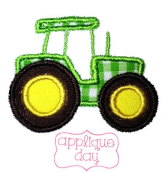 John Deere Applique Embroidery Design : John deere tractor digital applique design instant by
