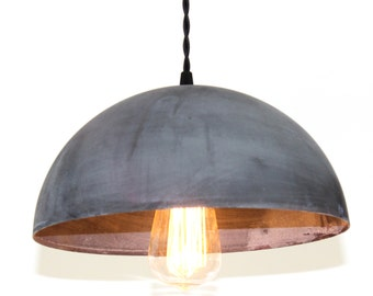 Zinc Dome Pendant Light