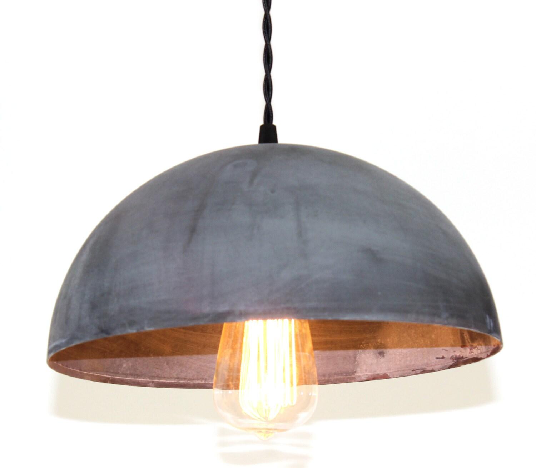 Zinc Dome Pendant Light