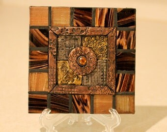 Quilted  Decorative Ceramic Tile  Home Decor