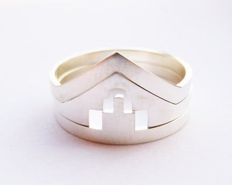 Sterling Silver Simple Ring Set-3pcs All Sizes