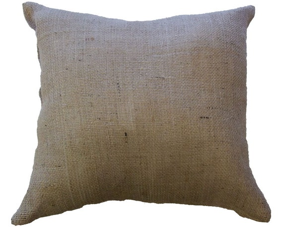 Faux Deerskin Pillow : 2 Burlap Cushions 20