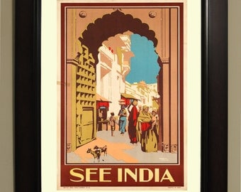 See India Travel Poster - 3 sizes available, one low price.