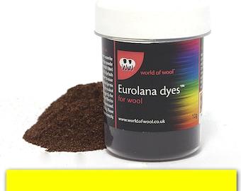Bright Yellow - Eurolana Wool Dye - Hand Dye Your Own Wool - Roving/Top