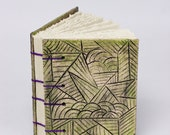 Coptic Book with Ceramic Covers --great for a journal or an art sketchbook