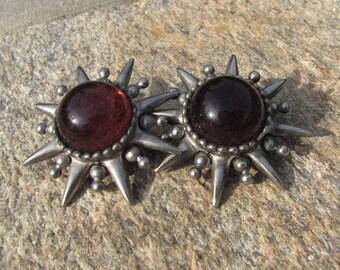 Vintage Clip On Earrings - Stars