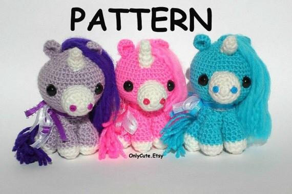 Amigurumi Unicorn and Pony Pattern PDF by OnlyCute on Etsy
