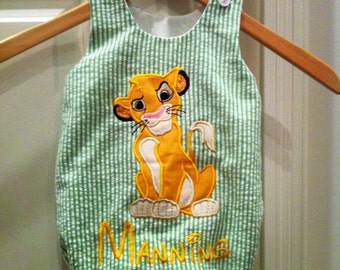 Disney inspired Simba from Lion King Bubble Romper in sizes 0-3 months - 24 months