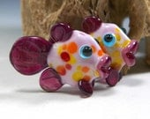 MADE TO ORDER: Adorable Pair of Sweet Pink Lampwork Fish Bead Pair by StarFishyBeads