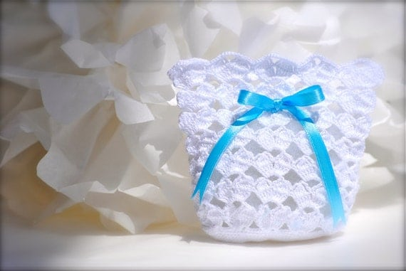 Crochet Bag For Baby : ... similar to Wedding favor - Baby shower - Crochet - White bag on Etsy