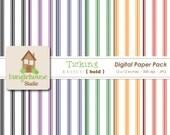 Digital Paper Pack Ticking Paper Pack Instant Download Digital Scrapbooking Basics Bold Style