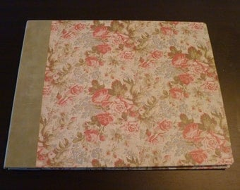 Flower covered Handmade large scrapbook or photo album