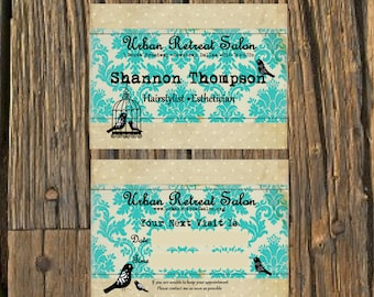 Whimsical Salon Business Cards