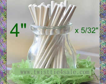 "1200pcs 4"" x 5/32"" Paper  Lollipop Sticks for Cake Pops"