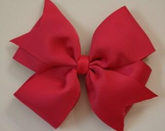 Hot Pink Pinwheel Hairbow